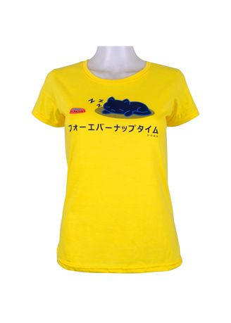 Yellow color Tees & Shirts . INSPI Women's Printed T-shirt -