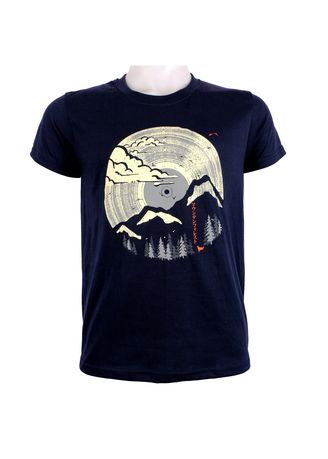 Navy color T-Shirts and Polos . INSPI Men's Printed T-shirt -