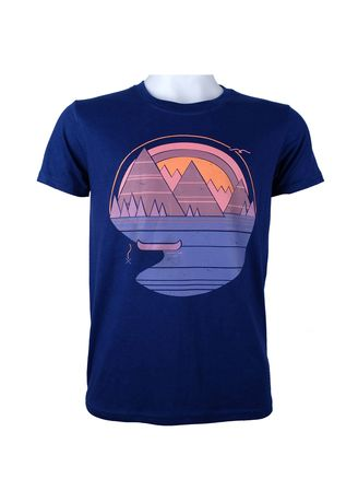 Blue color T-Shirts and Polos . INSPI Men's Printed T-shirt -