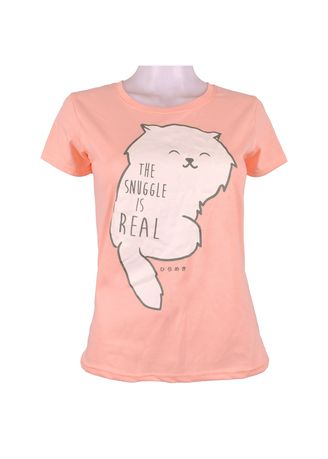 Pink color Tees & Shirts . INSPI Women's Printed T-shirt -