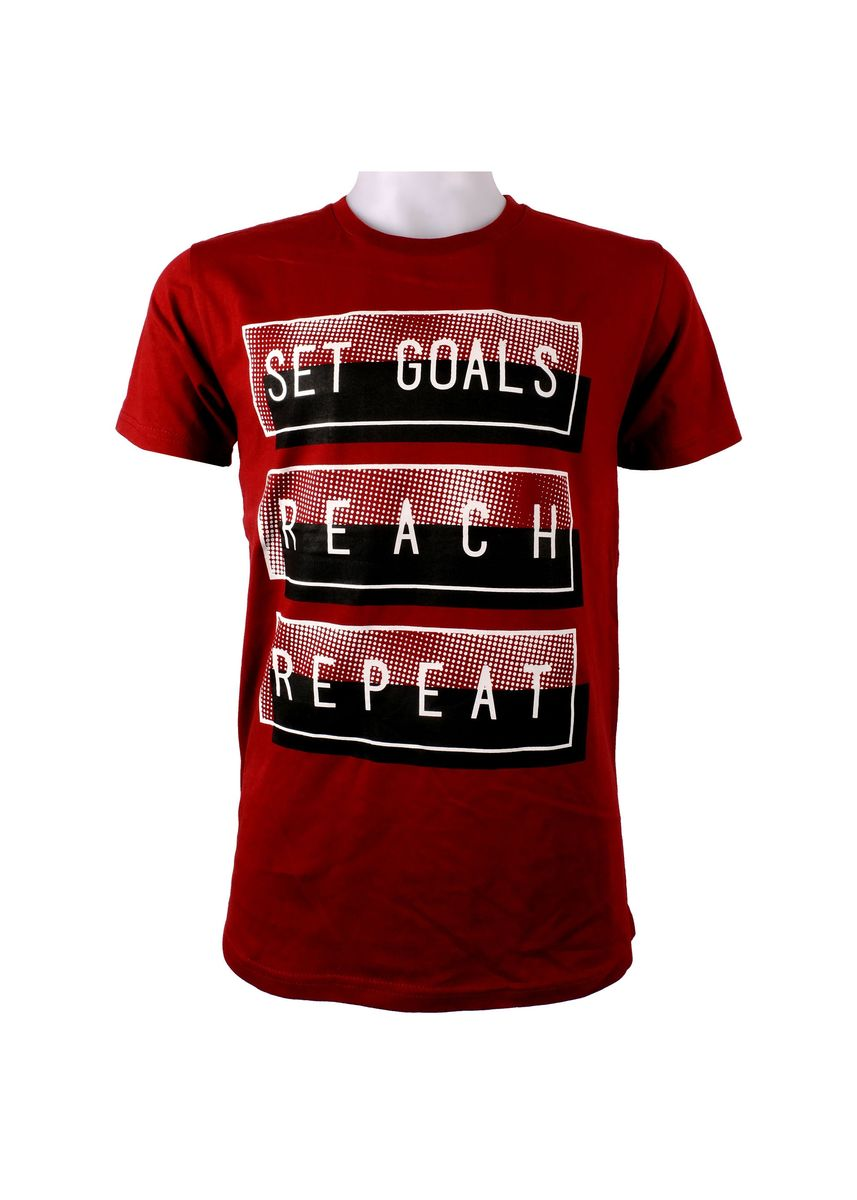 Maroon color T-Shirts and Polos . INSPI Men's Printed T-shirt -
