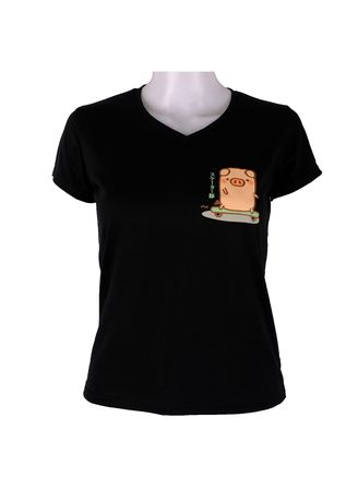 Black color Tees & Shirts . INSPI Women's Printed T-shirt -