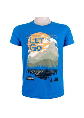 Light Blue color T-Shirts and Polos . INSPI Men's Printed T-shirt -