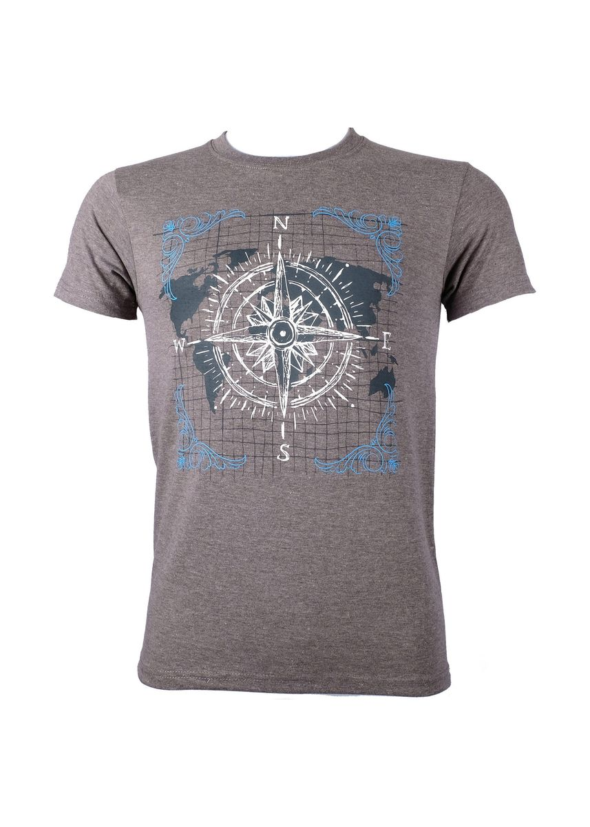 Grey color T-Shirts and Polos . INSPI Men's Printed T-shirt -