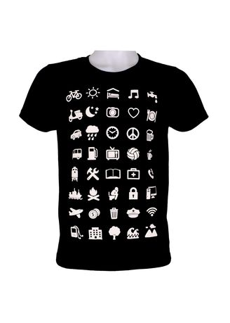 Black color T-Shirts and Polos . INSPI Men's Printed T-shirt -