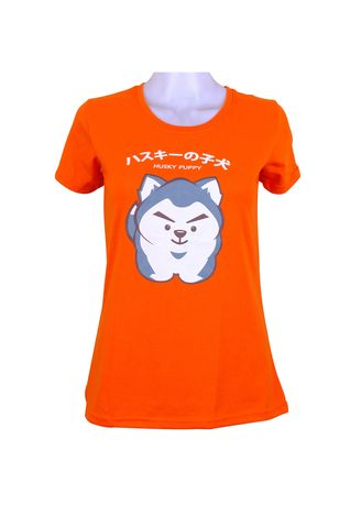Orange color Tees & Shirts . INSPI Women's Printed T-shirt -