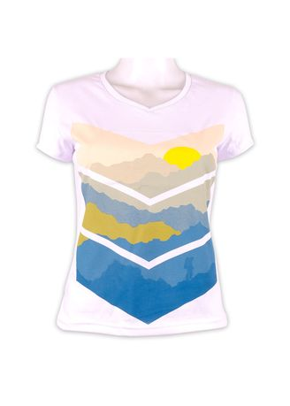 White color Tees & Shirts . INSPI Women's Printed T-shirt -