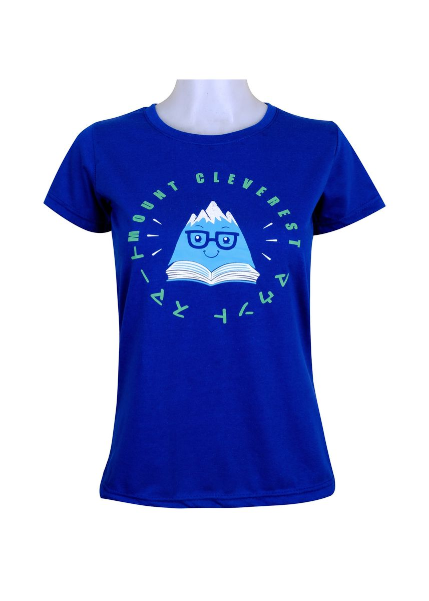 Blue color Tees & Shirts . INSPI Women's Printed T-shirt -