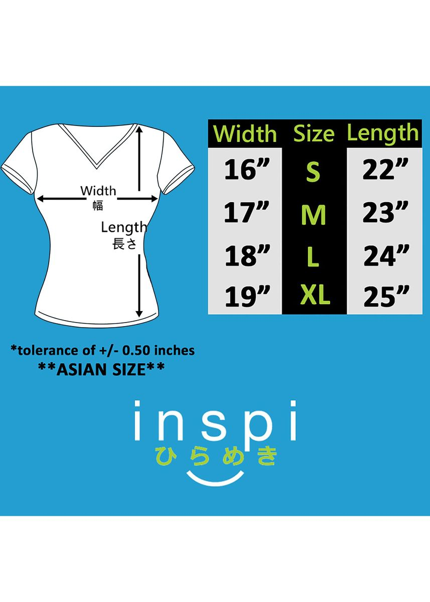 Light Blue color Tees & Shirts . INSPI Women's Printed T-shirt -