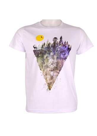 White color T-Shirts and Polos . INSPI Men's Printed T-shirt -