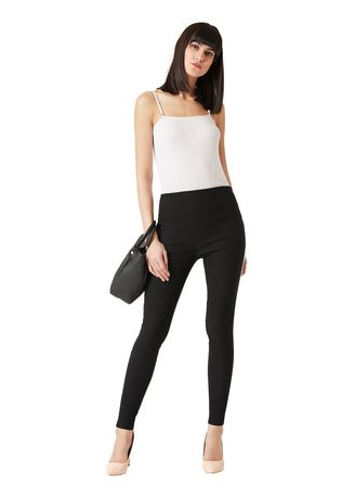 Black color Leggings . Two Way Twill High Waist Jeggings -