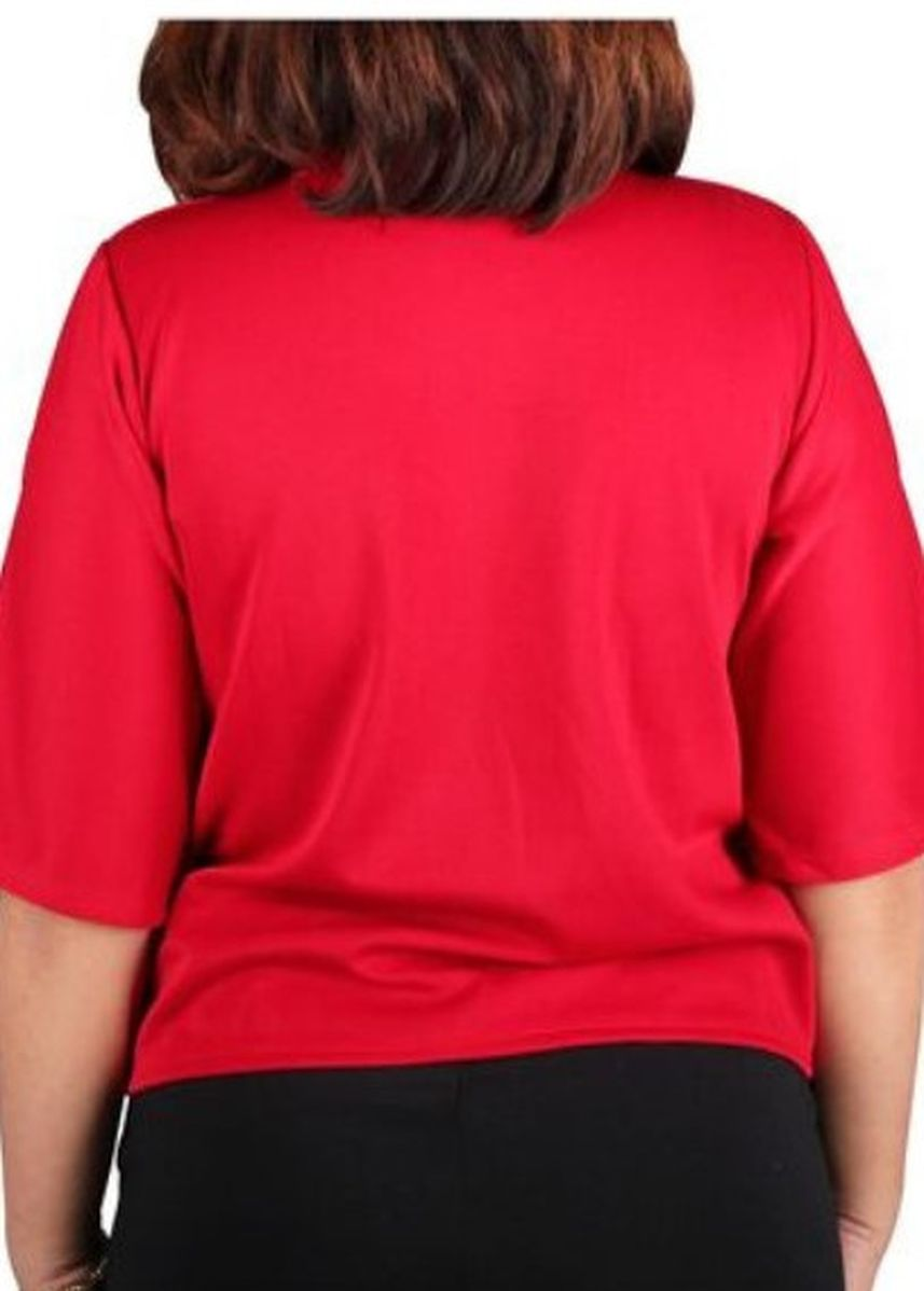 Red color Tops and Tunics . Timeless Manila  Plus Size Curve Astraea Shirt Blouse -
