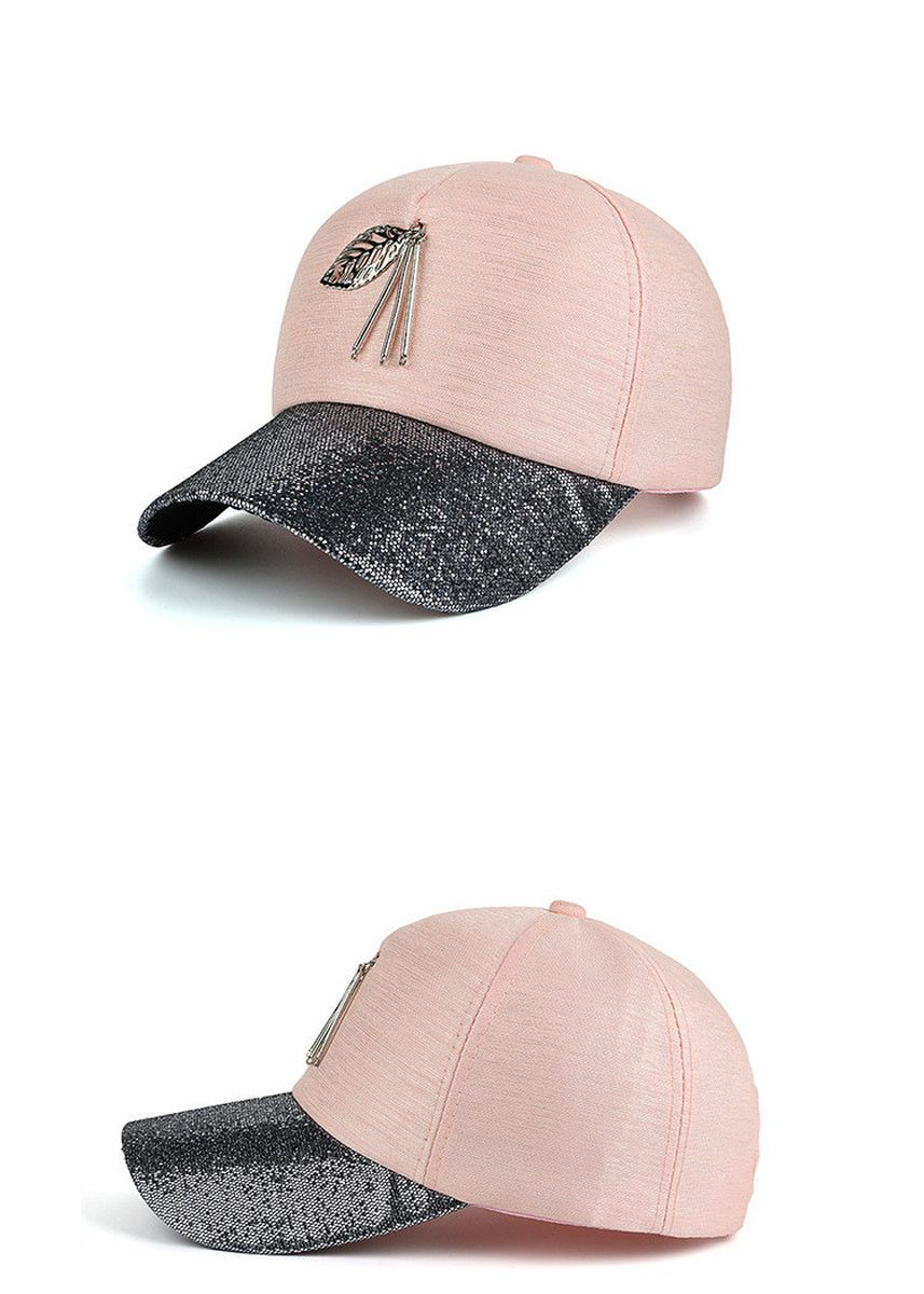 Pink color Hats . Summer leisure outing shopping sunshade hat -