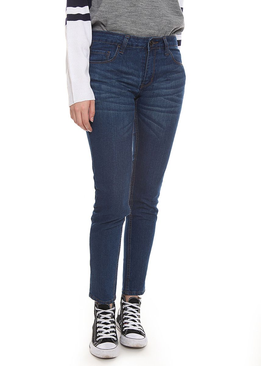 Navy color Jeans .  2nd Red Slim Fit Jeans Premium Deep Blue Wash  -