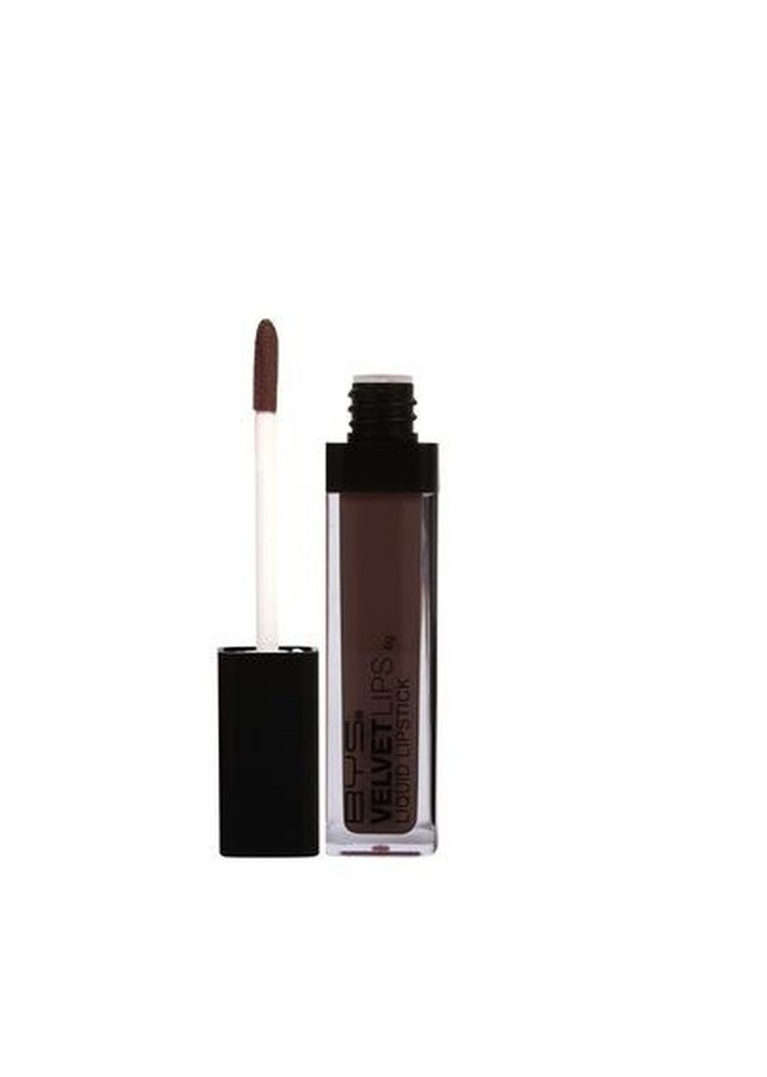 Brown color Lips . BYS Liquid Velvet Lips (Hot Cocoa) -
