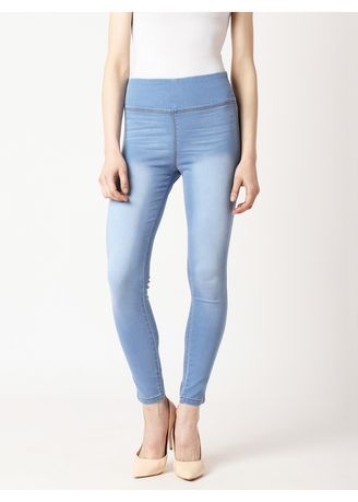 Navy color Jeans . Clouds In The Sky Jeggings -
