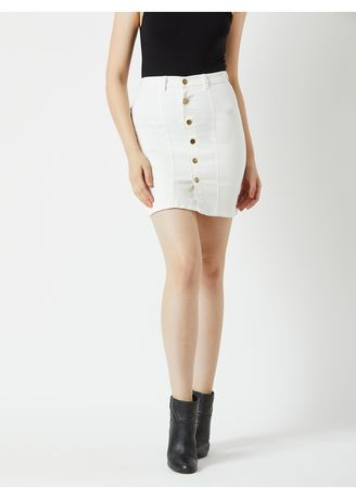 White color Jeans . Just Another Day Denim Skirt -