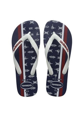 Navy color Sandals and Slippers . Havaianas Top Nautical Flip-flops -