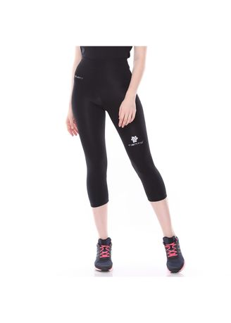 Tiento Baselayer Celana Legging Leging Ketat Olahraga 3 4 Pants Black Silver Legging Wanita Zilingo Shopping Indonesia