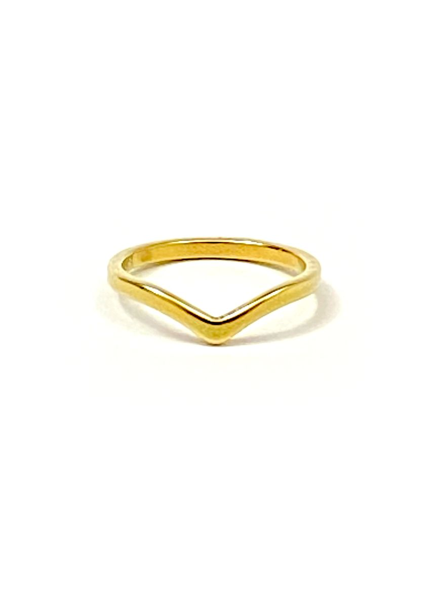 Gold color  . pflow BAE Half Curved Roud Band Size 6 -