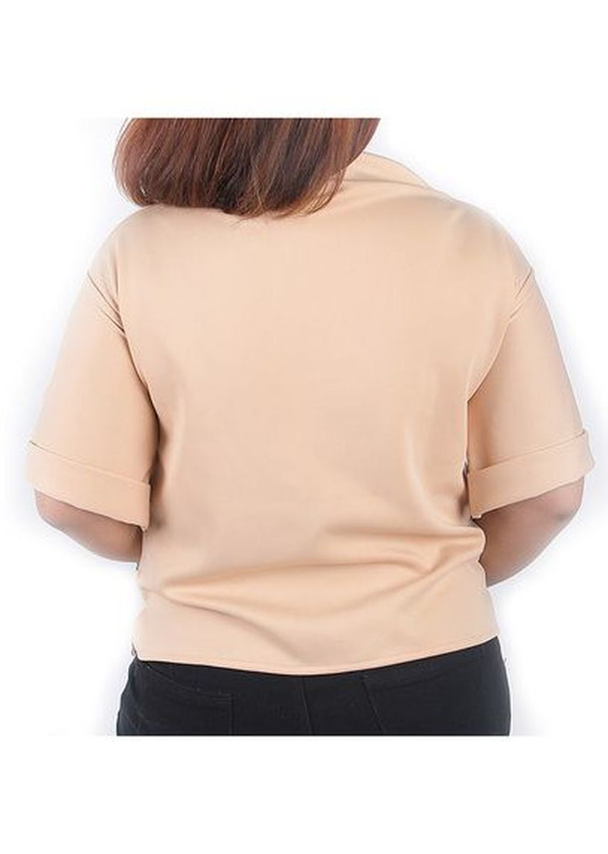 Beige color Tops and Tunics . Timeless Manila Curve Anthea Boat Neck Blouse -