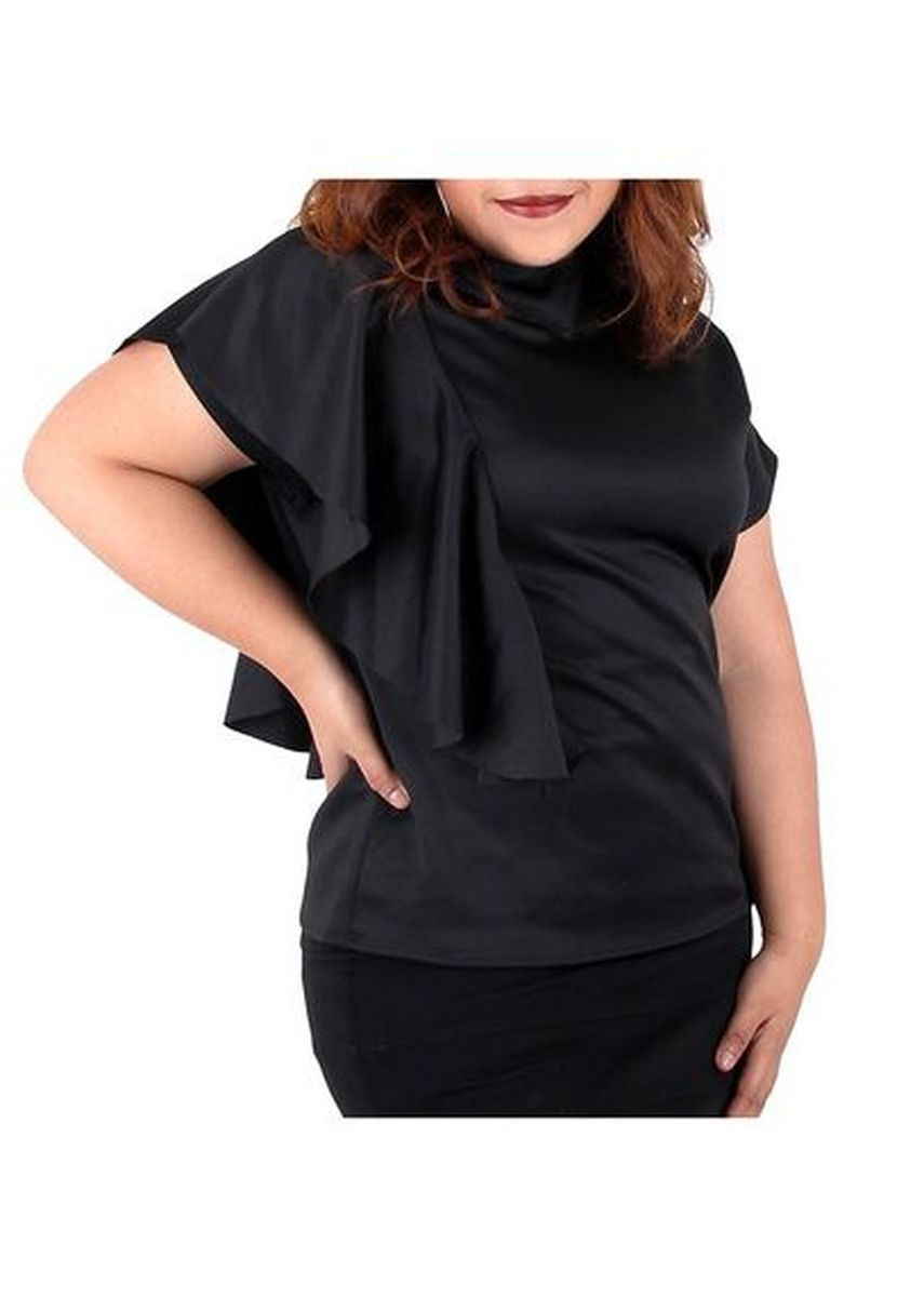Black color Tops and Tunics . Timeless Manila Aniela Turtle Neck Top -