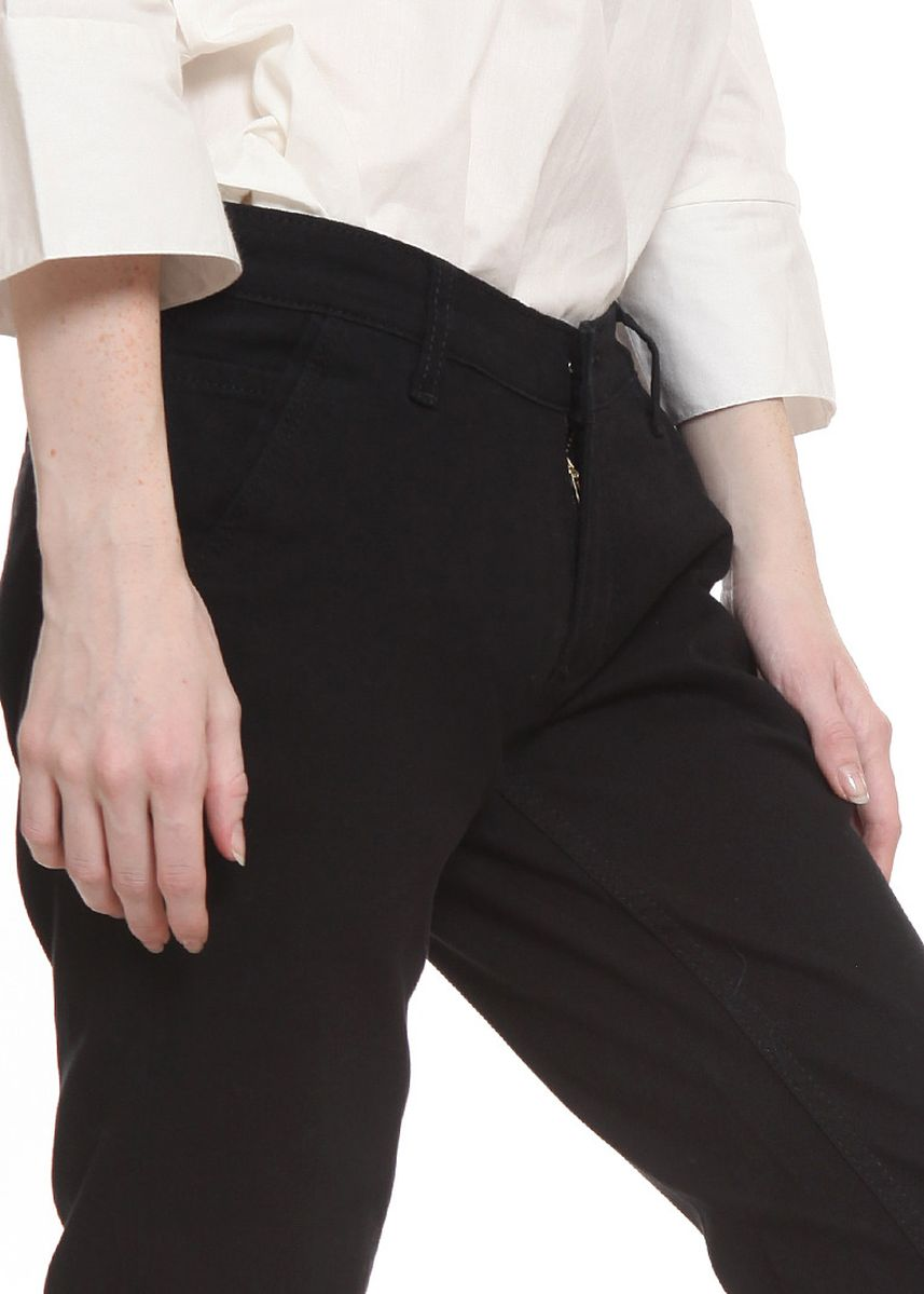 Black color Trousers .  2nd Red Slim Fit Chinos Trousers Black -