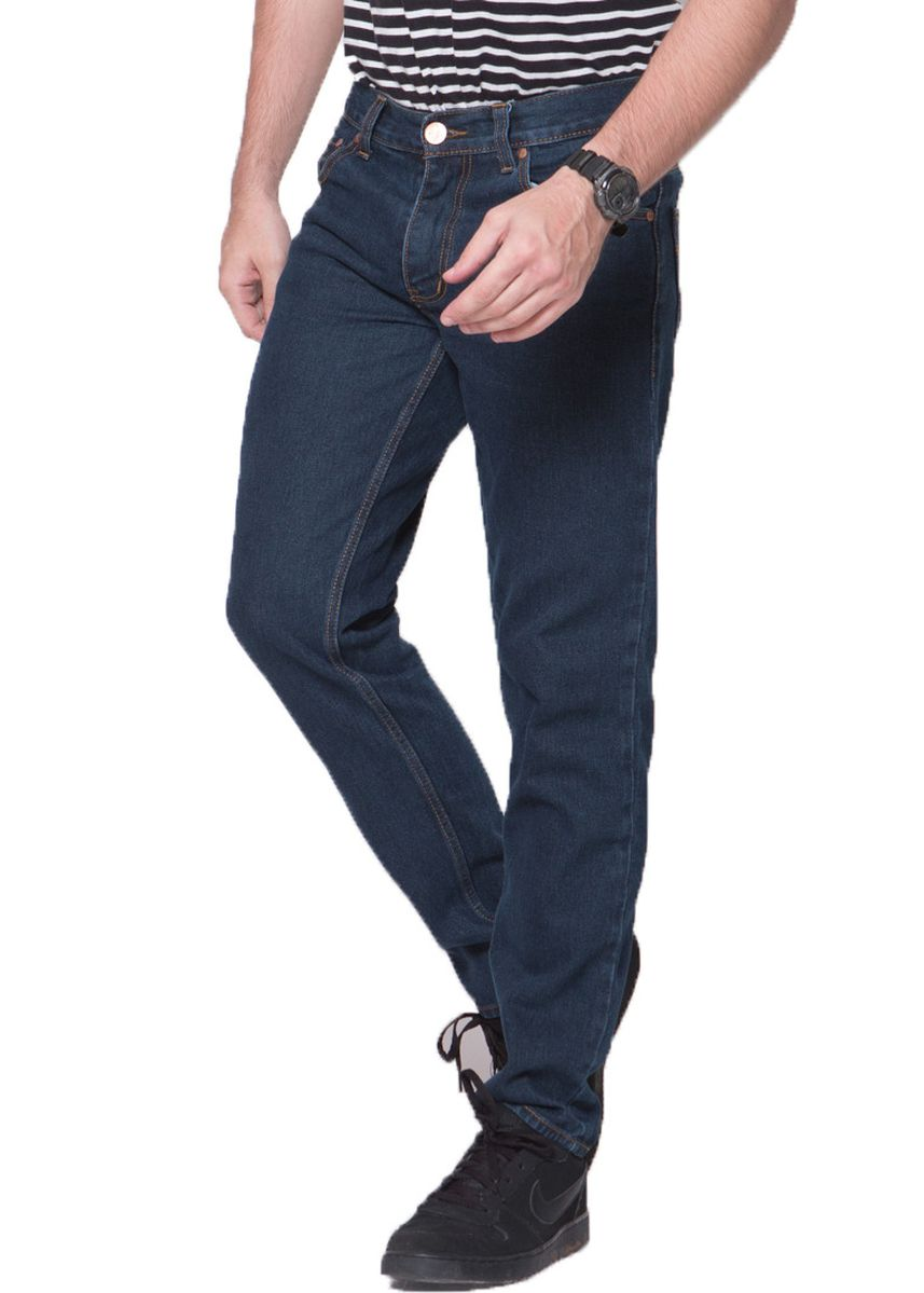 Navy color Jeans .  2nd Red Jeans BASIC Premium Regular Fit Navy -