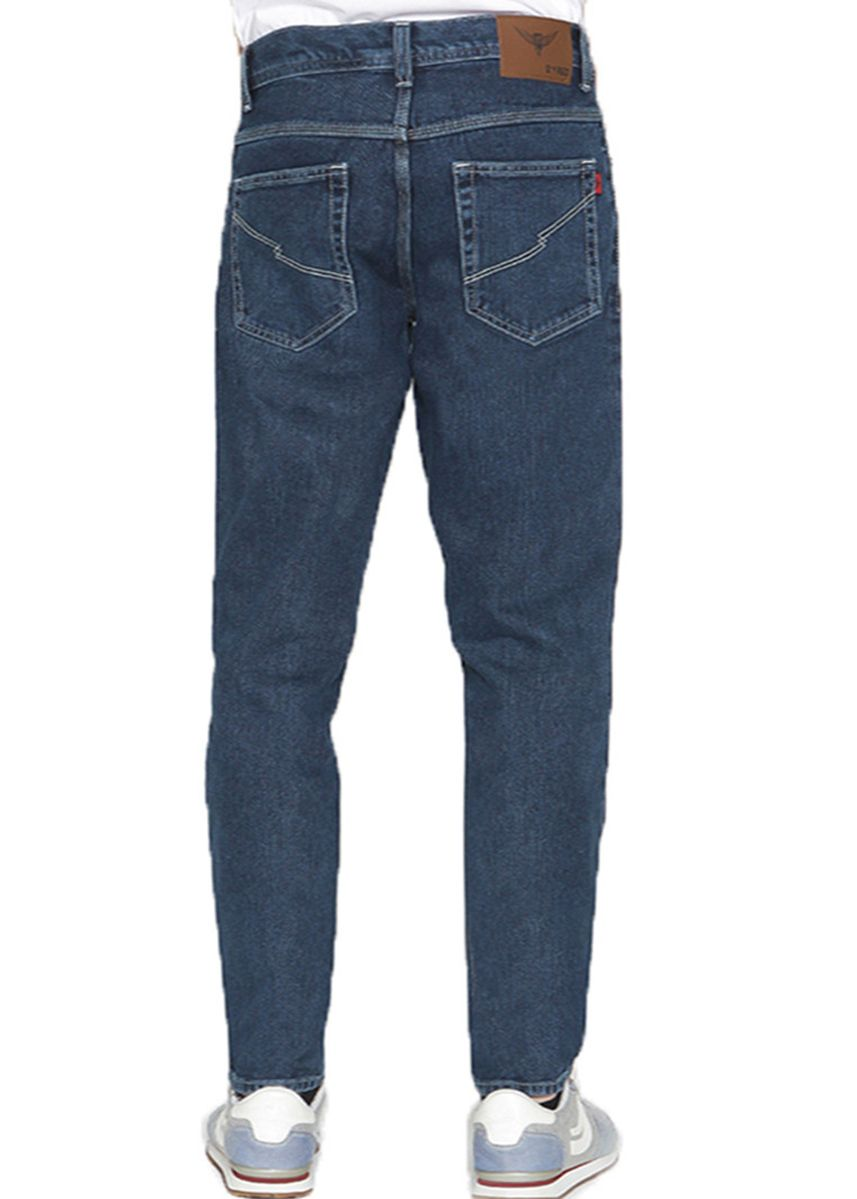Biru color Celana Jeans .  2nd Red Jeans BASIC Premium Regular Fit Dark Blue -