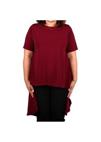 Maroon color Tops and Tunics . Timeless Manila Jocasta Cape Top Blouse -