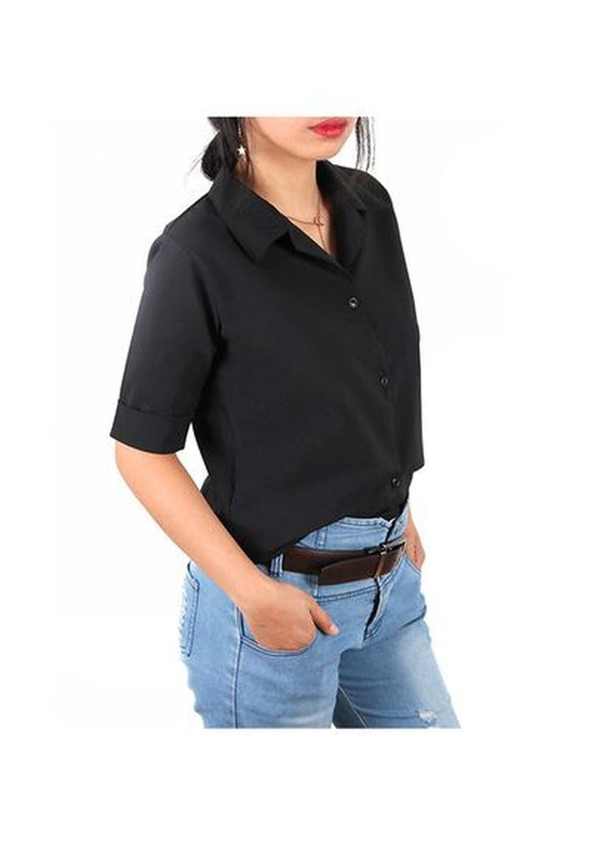 Black color Tops and Tunics . Timeless Manila Sienna Polo Blouse -