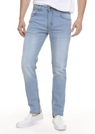 Light Blue color Jeans . 2Nd RED Celana Jeans Comfort Slim Fit 133266 -
