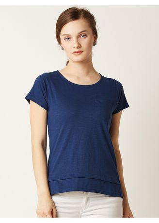 Navy color Tops and Tunics . Back To Long Live Basic Top -
