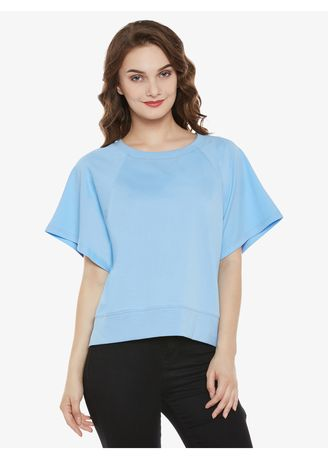 Blue color Tops and Tunics . A Walk With Me Top -