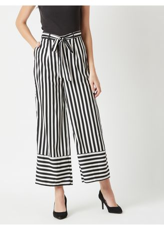Multi color Trousers . Flash Dance Belted Trouser -