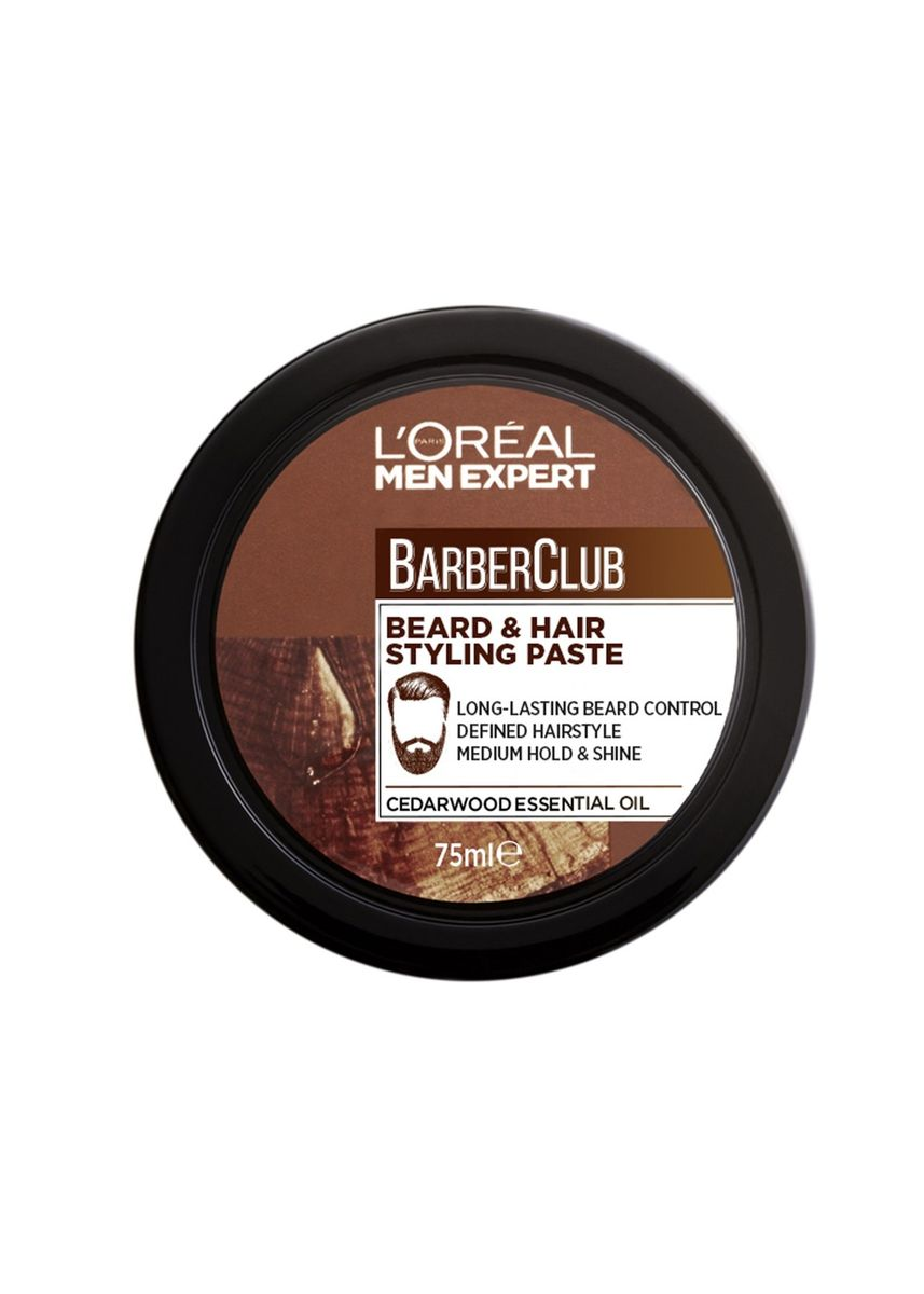 ไม่มีสี color ผม . L'OREAL Men Expert BarberClub Beard & Hair Styling Paste 75ml.  -
