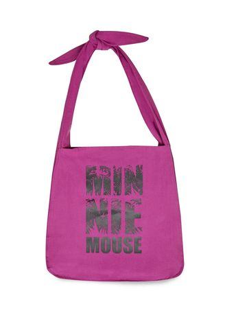Purple color Hand Bags . Disney's Minnie Mouse Typographic Print Tote Bag with Knotted Strap -