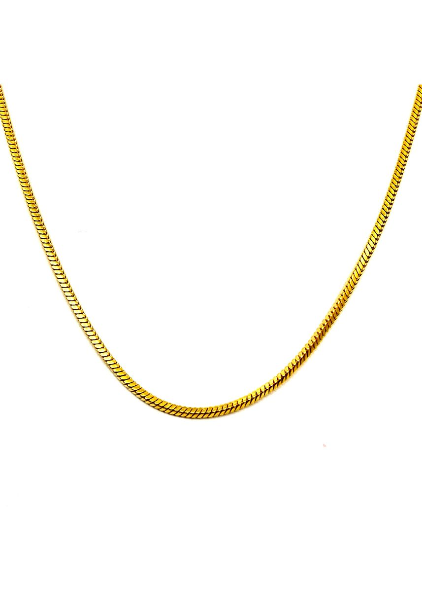 """Gold color  . pflow Core Square Snake Chain in Gold 22"""" -"""