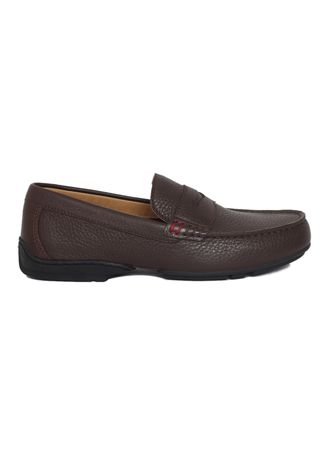 Cokelat color Sepatu Kasual . Gino Mariani Gianluca Genuine Leather Men's Loafers Shoes -