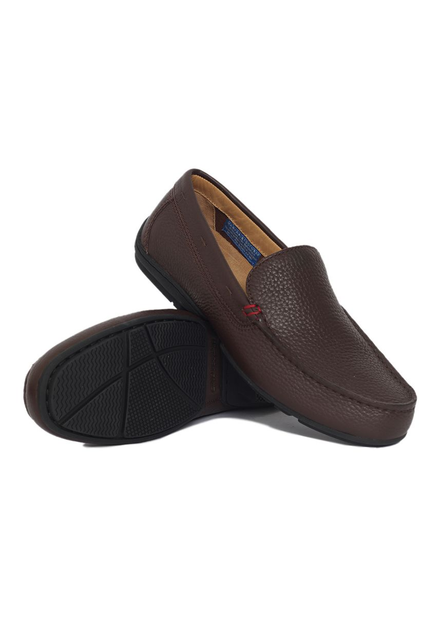 Brown color Casual Shoes . Gino Mariani Gianluigi Genuine Leather Men's Loafers Shoes -