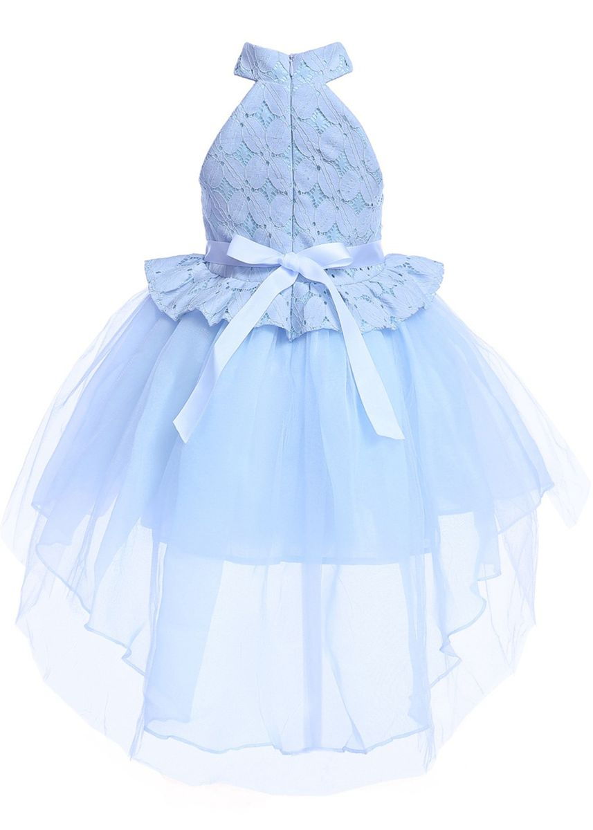 Light Blue color Dresses . Kids Party Wear Sleeveless Dress -