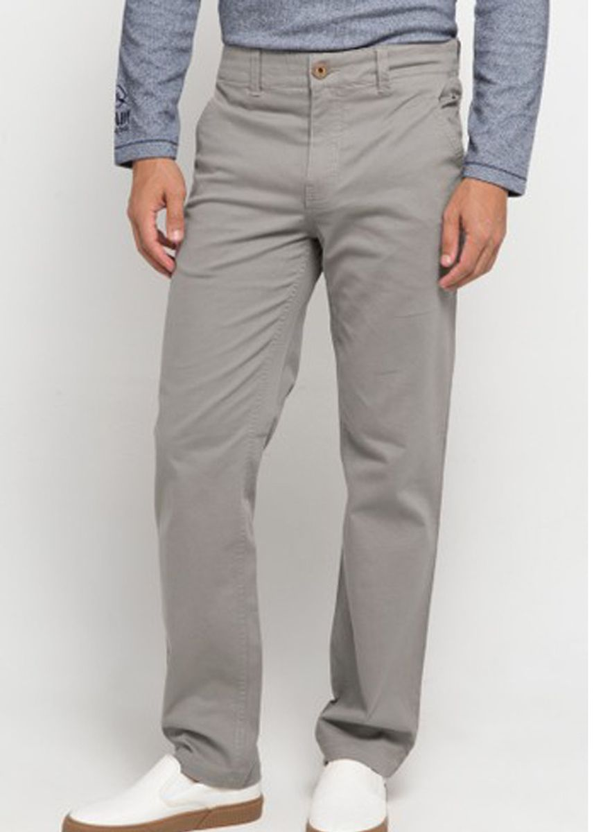 Grey color Casual Trousers and Chinos . EMBA CLASSIC-Geroy One Celana Panjang Pria Warna Grey -