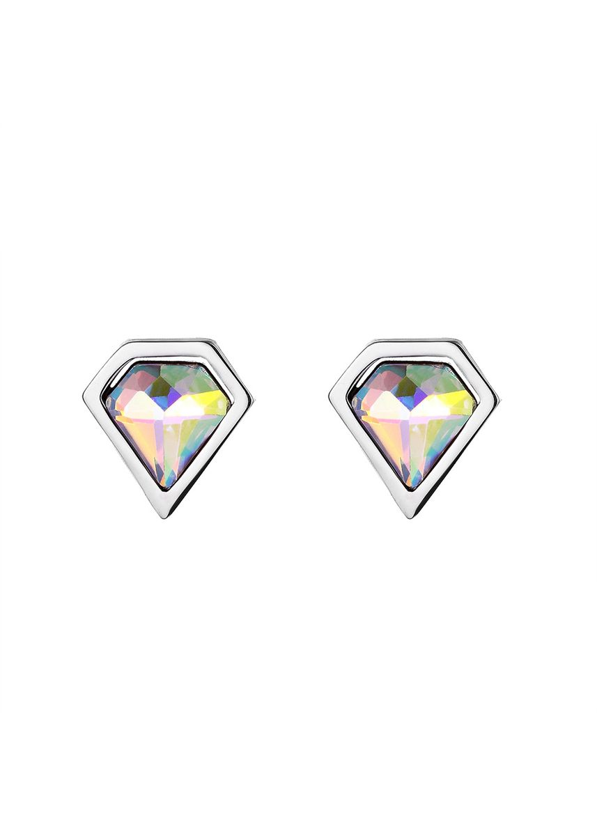 Grey color  . Mio Mio by Silverworks Set of 3 Hologram Stud Earrings X4216 -