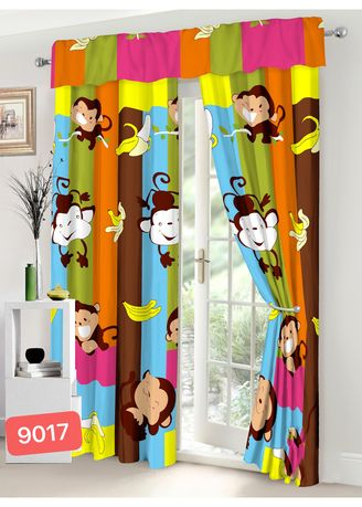 Multi color Home Decor . Celina Home Textiles New Monkey Design String Curtain for Window or Home Decor C9017 -