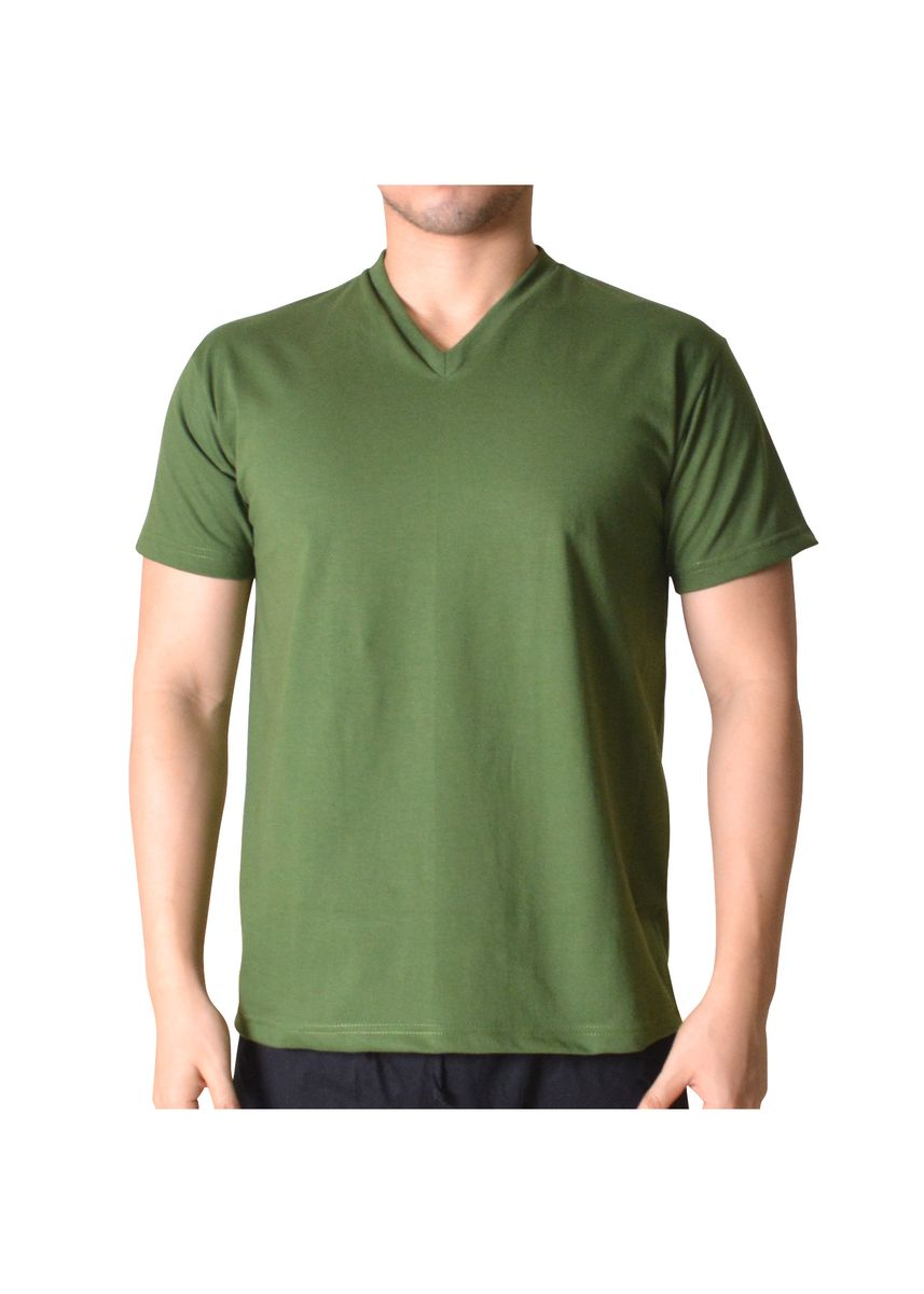 Green color T-Shirts and Polos . Sunjoy V-Neck T-Shirt -