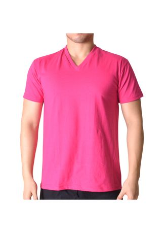 Pink color T-Shirts and Polos . Sunjoy V-Neck T-Shirt -