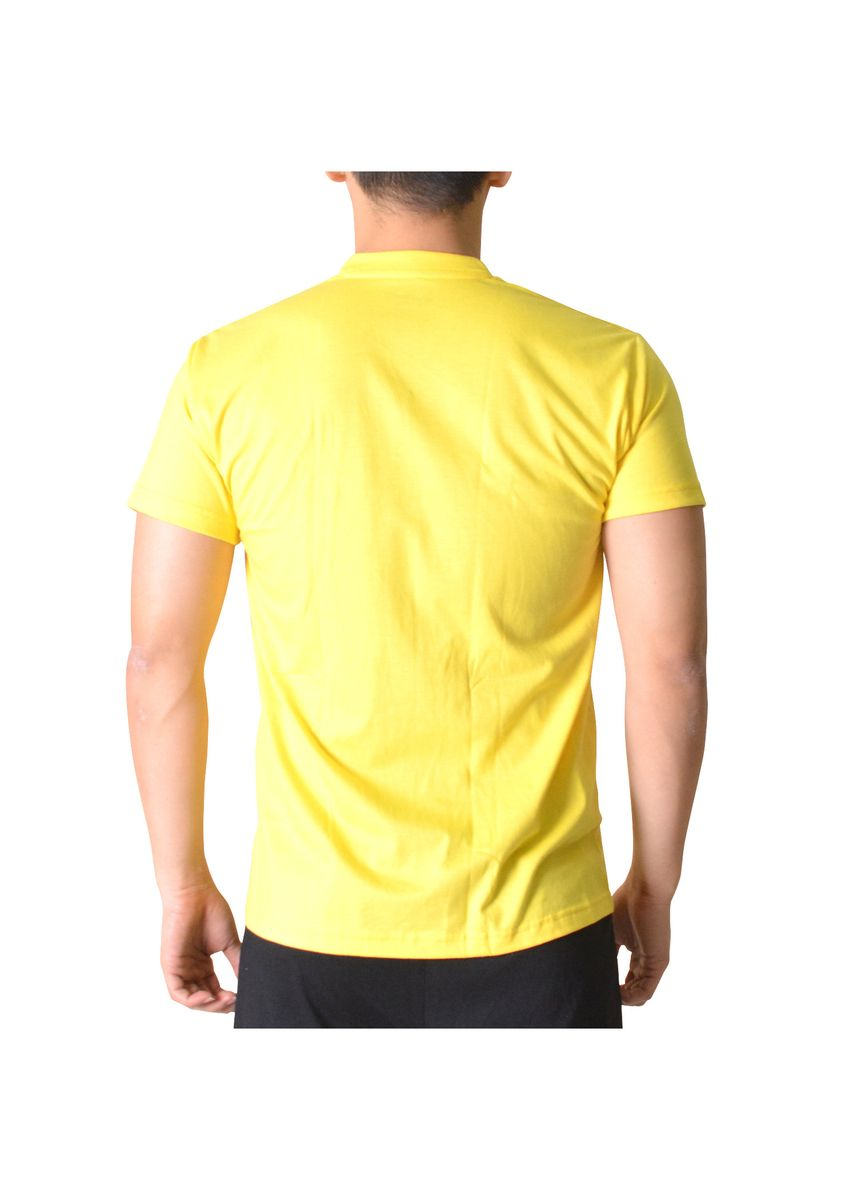 Yellow color T-Shirts and Polos . Sunjoy V-Neck T-Shirt -