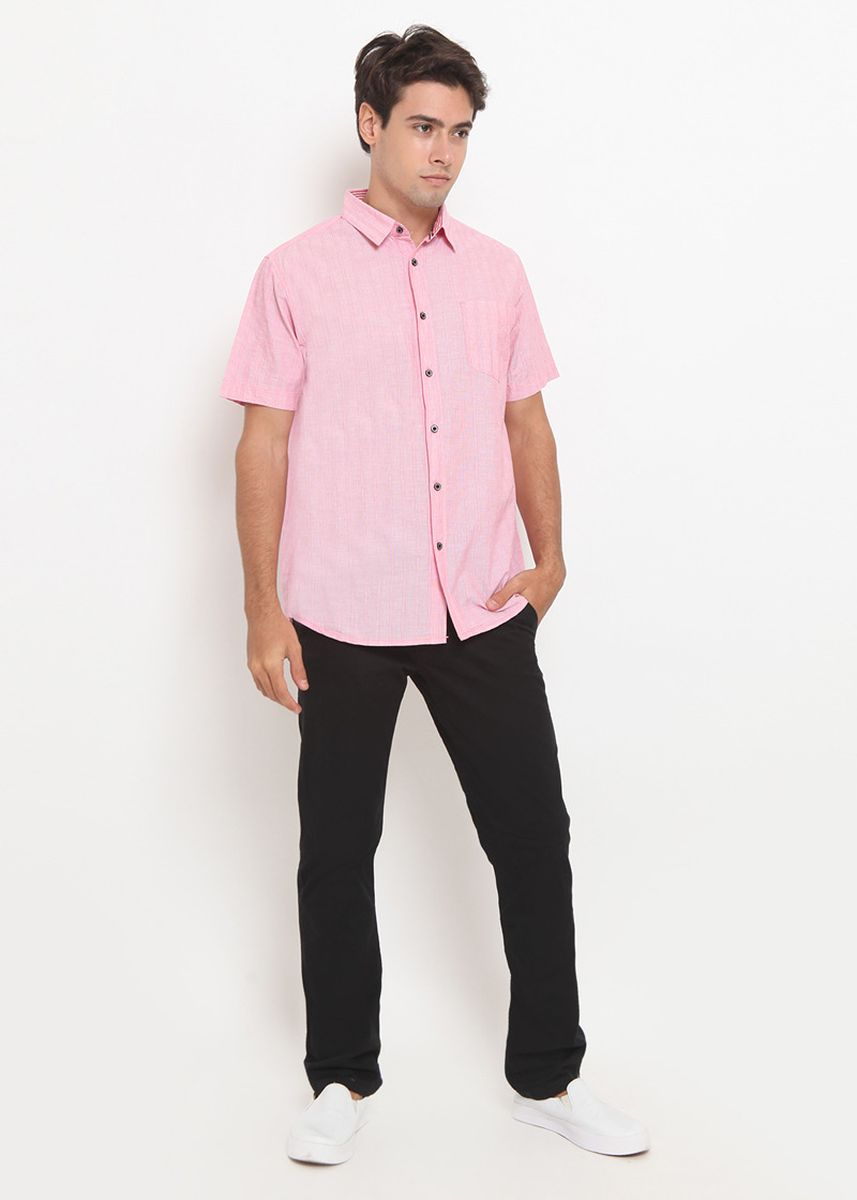 Red color Casual Shirts . Police Kemeja Polos Regular Fit Pria  -