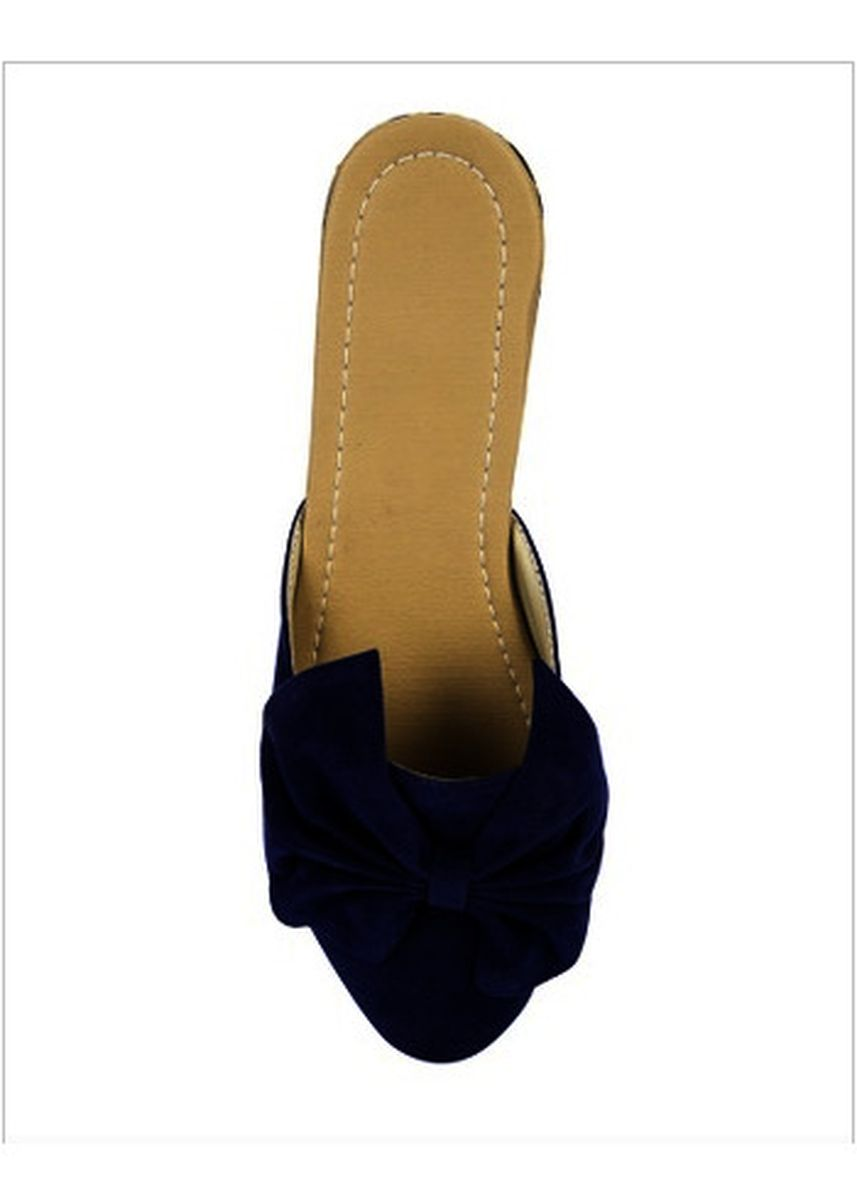 Blue color Flats . LIZA LYN Creations Dakota Mules -