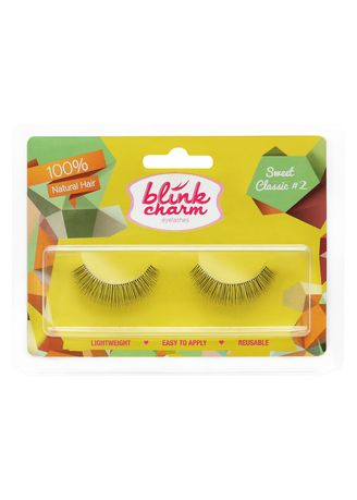 Black color Eyes . Blink Charm Eyelashes Sweet Classic #2 - 1 Pair -